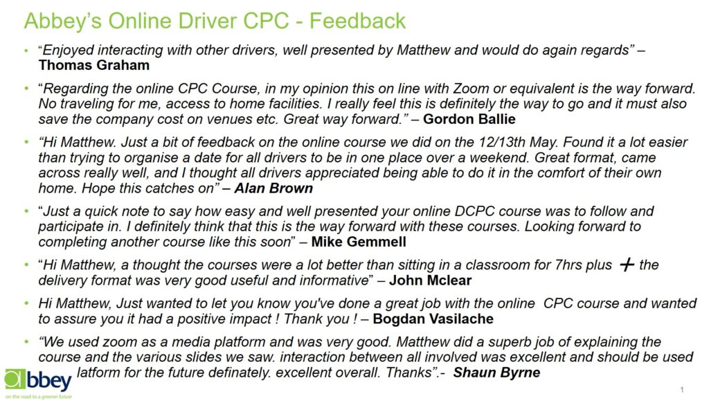 online driver cpc training